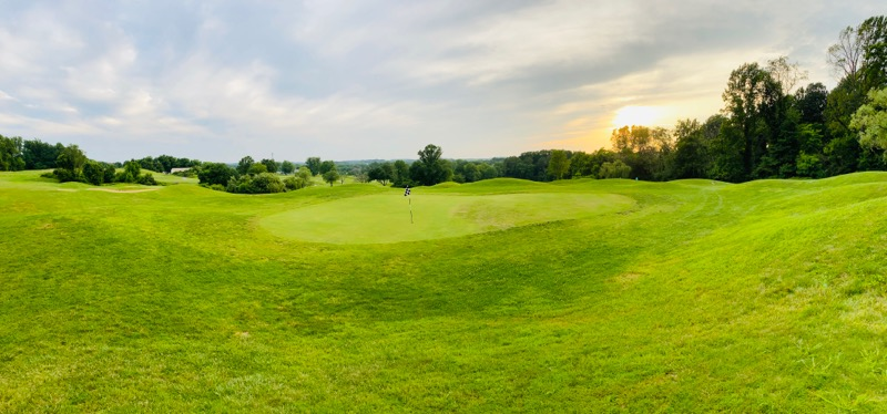 View of a hole on the course at Willow Springs